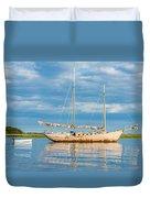 Pink Sailboat 3 Duvet Cover