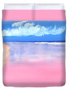 Pink Sand In Harbor Island - Bahamas Duvet Cover