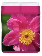 Pink Single Peony Duvet Cover