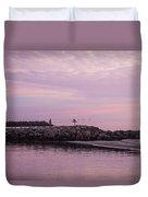 Pink Skies At Dawn Duvet Cover