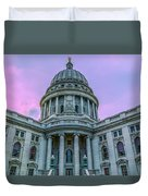 Pink Sky On The Square Duvet Cover