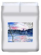 Pink Sky Reflections Duvet Cover