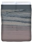 Pink Sky Reflections In The Sand Duvet Cover