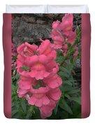 Pink Snapdragons Duvet Cover