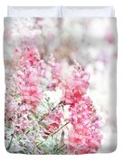 Pink Snapdragons Watercolor Duvet Cover