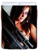 Pink Sniper Duvet Cover