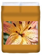 Pink Spotted Lilly Duvet Cover