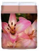 Pink Spring Lilly Duvet Cover