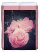 Pink Summer Roses Duvet Cover