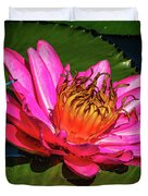 Pink Summer Water Lily Duvet Cover