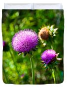 Pink Thistle Study 1 Duvet Cover