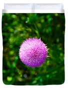 Pink Thistle Study 2 Duvet Cover