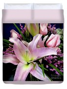 Pink Tiger Lily Duvet Cover