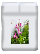 Pink Toadflax Duvet Cover