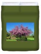 Pink Tree Duvet Cover