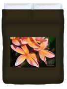 Pink Tropical Plumeria Makawao Maui Hawaii Duvet Cover