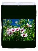Pink Trumpet Flowers In Pilgrim Place In Claremont-california Duvet Cover