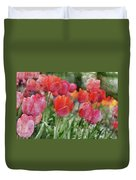 Pink Tulip Macro Duvet Cover