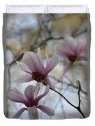 Pink Tulip Magnolias Duvet Cover