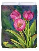 Pink Tulip Twist Duvet Cover