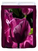 Pink Tulip Watercolor Duvet Cover