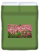 Pink Tulips At Floriade In Canberra, Australia Duvet Cover
