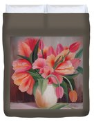 Pink Tulips Duvet Cover