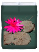 Pink Water Lily Duvet Cover