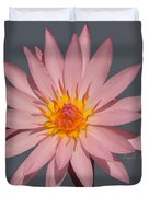 Pink Water Lily Transparent Duvet Cover