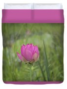 Pink Waterlily Bud Duvet Cover