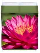 Pink Waterlily Duvet Cover