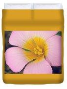 Pink Wilk Flower Duvet Cover