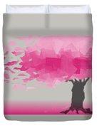 Pink Wind Duvet Cover