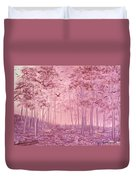Pink Woods Duvet Cover