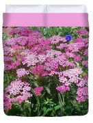 Pink Yarrows Duvet Cover