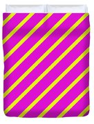 Pink Yellow Angled Stripes Duvet Cover