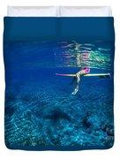 Pink & Yellow Surfboard Duvet Cover