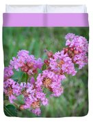 Pinkish Red Flower Bloom Close Up Duvet Cover