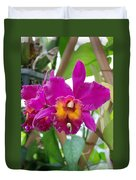 Pinkishyellow Orchid Duvet Cover