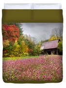 Pinks In The Pasture Duvet Cover