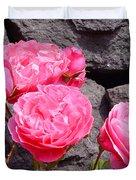 Pinks On The Rocks Duvet Cover