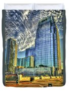 Pinnacle Building Sunset Nashville Shadows Nashville Tennessee Art Duvet Cover