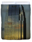 Pinnacle Sunset Reflection Duvet Cover