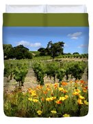 Pinot Noir And Poppies Duvet Cover