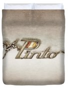 Pinto Car Badge Duvet Cover