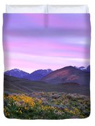 Pioneer Mountain Sunset Duvet Cover