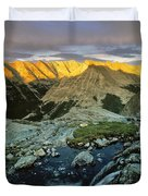 Pioneer Mountains Duvet Cover