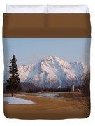 Pioneer Peak Alaska Duvet Cover