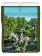 Pioneer Plaza Cattle Drive Monument Dallas Duvet Cover