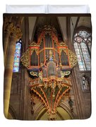 Pipe Organ In Strasbourg Cathedral Duvet Cover